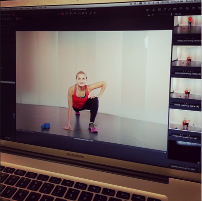 HIIT Routine That Won't Hurt the Knees: Behind the Scenes of Photo Shoot 2
